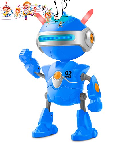 Inncen Boy Toys Robot BINBO for Kids,Interactive Mini Robots with USB Charging, Talking Repeat & Swing Robot Toys for Boys or Girls,Robot Toys forKids Gift (Blue)