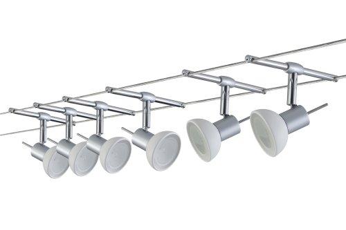Paulmann 97533 Wire System Sheela 210 6x35W GU5,3 Chrom matt/Opal 230/12V 210VA Metall/Glas