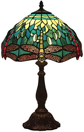 Lievevt Lámpara Escritorio Estilo Barroco Material de Pantalla Iglesia Vidrio Plug-in lámpara de Mesa lámpara de Mesa Dormitorio Europeo Restaurante de Aprendizaje Bar de café ktv Verde