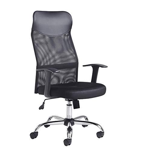 Ergonómicas de oficina silla de respaldo alto de malla silla de escritorio con altura ajustable del asiento, Tensión de inclinación, soporte lumbar y reposacabezas ancha Tao-Miy