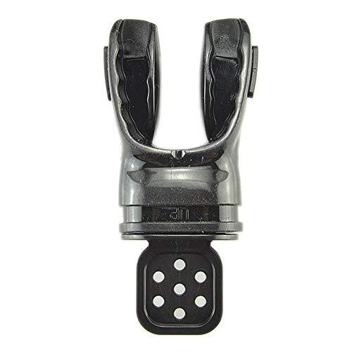 LYXMY Mundstü Atemregler Silikon Biss Komfort Zahnrad Formbar Mit Kabelbinder Schnorchel Unterwasser Ausrüstung Tauchgang Für Erwachsene Praktisches Tauchen Atem(Schwarz)