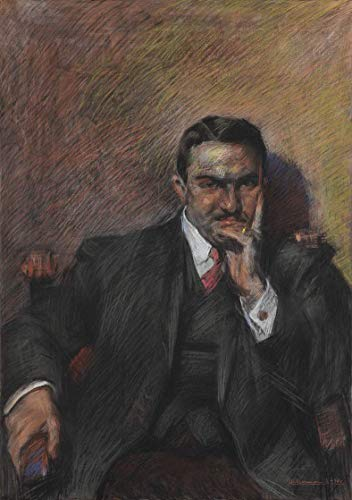 Vintage Retro Metal Sign 16x12in,Umberto Boccioni Famous Paintings(Portrait of Innocenzo Massimino),Retro Metal Tin Poster Suitable for Garage Club Bar Wall Art Cafe Home Painting Decoration