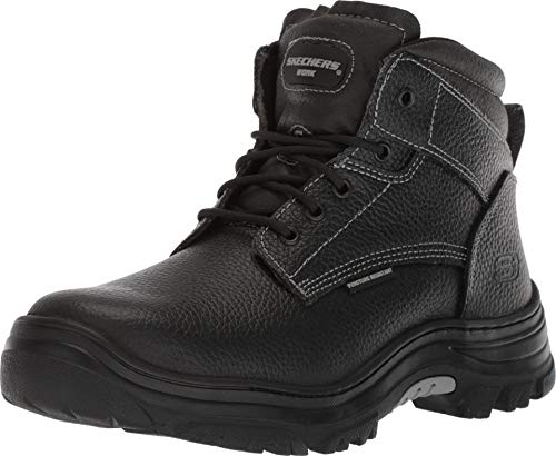 Skechers for Work Men's Burgin-Tarlac Industrial Boot,black embossed leather,11 W US