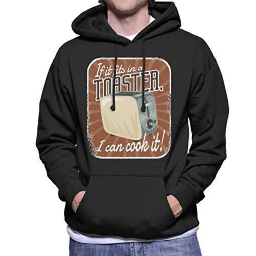 Cloud City 7 Als het Past in een broodrooster Ik kan koken Het Heren Hooded Sweatshirt