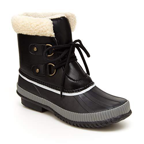 JBU by Jambu womens Cleveland Waterproof Snow Boot, Black, 9 US