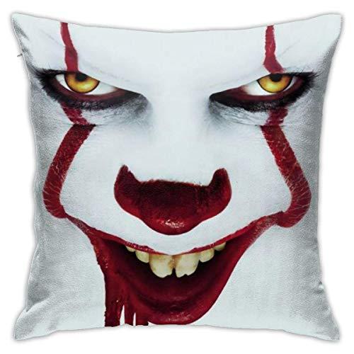 huancheng Pennywise Two Joker Throw Pillow Covers Dekorative Baumwollkissenbezüge für Sofa Couch Bed Weiche Kissenbezüge
