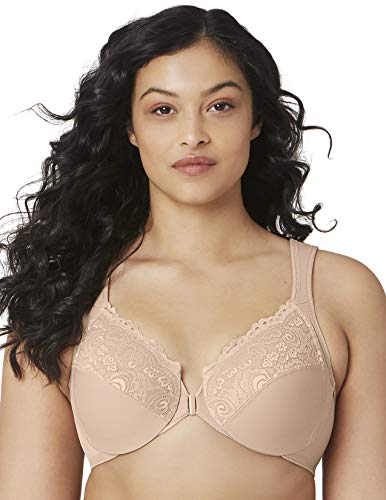 Glamorise Full Figure Plus Size Wonderwire Front Close Bra #1245