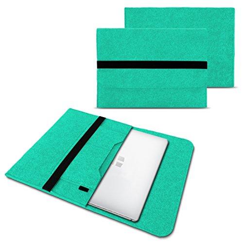 NAUC Laptoptasche Sleeve Schutztasche Hülle für Trekstor Surfbook W1 W2 Netbook Ultrabook 14,1 Zoll Laptop Filz Hülle, Farben:Mint