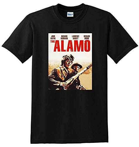 BHGF The Alamo T 1960 John Wayne 4k bluray DVD Cover T-Shirt Short-Sleeved Shirt Top Sweatshirt Black L