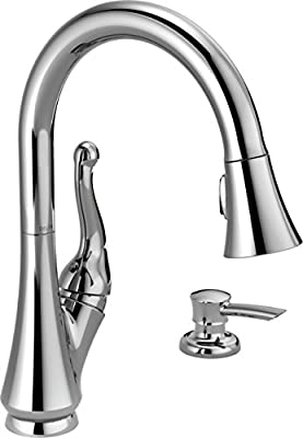 Delta Faucet Talbott Single-Handle Kitchen Sink Faucet with Pull Down Sprayer, Soap Dispenser and Magnetic Docking Spray Head