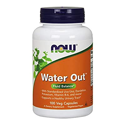 NOW Supplements, Water Out With Standardized Uva Ursi, Dandelion, Potassium and Vitamin B-6, 100 Veg Capsules
