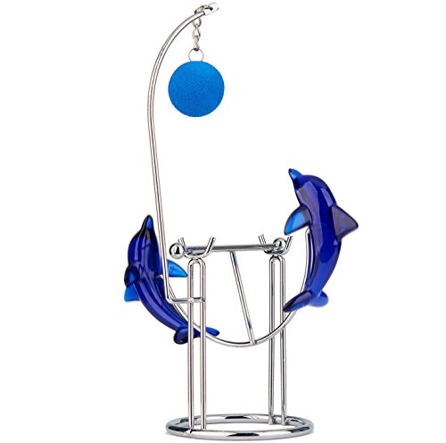 Sunnytech Dolphins Kinetic Art Balancing Decompression Toy Decompressive Science Psychology Home Office Decor Desk Decor Toy (WJ121 HL04 Dolphins Toy)