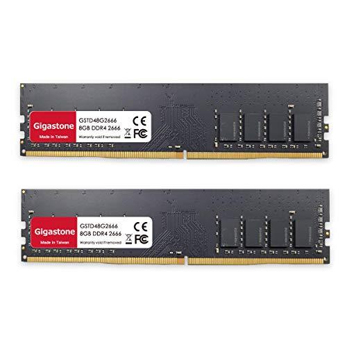 Gigastone DDR4 16GB (8GBx2) 2666MHz PC4-21300 CL19 1.2V UDIM