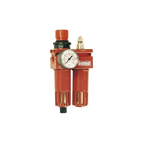 """ELMAG 42545 Druckluft Wartungseinheit mit Filter, Regler und Öler Anschlussgewinde 1/2"""""""