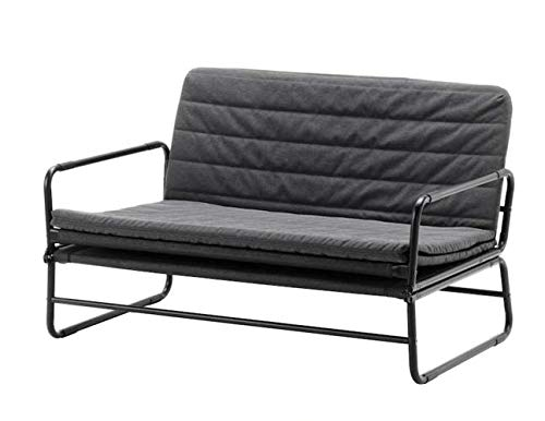 IKEA BOUTIQUE STORE Wooden Sofa/Bed (Grey and Black, 120 cm)