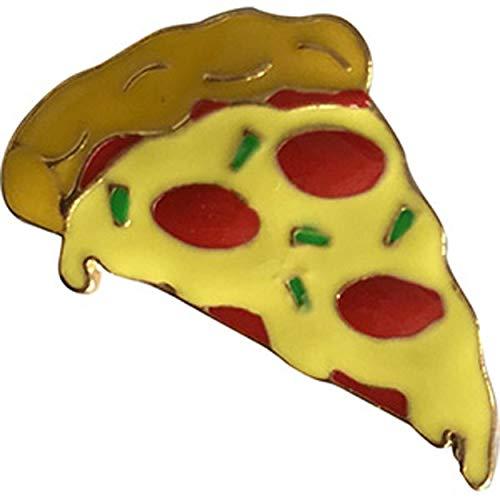Food Pizza Slice Pin - Original Artwork 3D Rubber & Embossed Metal Lapel Pin - 1'