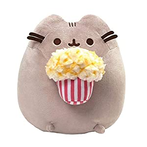 "GUND Pusheen Snackables Popcorn Cat Stuffed Plush, Gray, 9.5"" - 41SYXCJEJ L - GUND Pusheen Snackables Popcorn Cat Stuffed Plush, Gray, 9.5″"