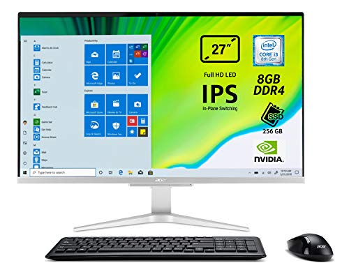 Acer Aspire C27-865 All-in-One Prozessor Intel Core i3-8130U, 8GB DDR4, 256GB SSD, 27