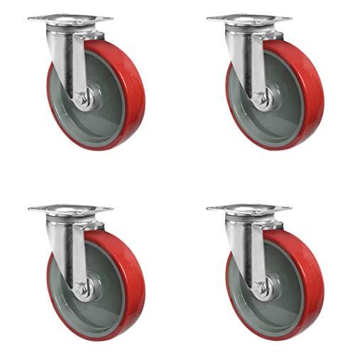 ruedas de transporte cascoo Juego sisi0/80/N0/n0l0/N rollo de 4/ruedas Inox acero inoxidable 4/unidades poliamida cojinete de deslizamiento soporta 390/kg 80/mm de di/ámetro