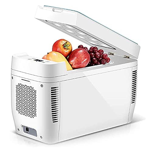 NMSLA 12L Coche Portátil Refrigerador Camping Caja Refrigerador Eléctrico Caja Refrigerador Frío En Frío Vehículo Congelador Frigorífico para Conducir Pesca Viaje Al Aire Libre Casa Camión RV