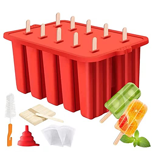 Waybesty 10 Cavities Homemade Popsicle Molds Shapes, Food Grade Silicone...