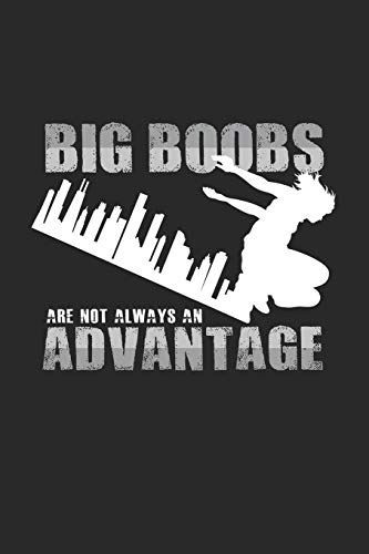Big boobs advantage: 6x9 Parkour | blank with numbers paper | notebook | notes