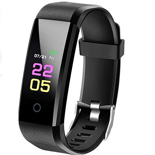 Fitness Tracker with Heart Rate Monitor, Activity Tracker with 0.96 inch Full Colour touchscreen, IP67 Waterproof Standard Smart Bracelet with Calorie Counter Pedometer Watch for Kids Women Men
