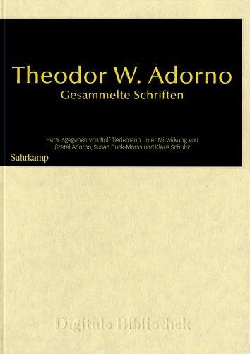 Digitale Bibliothek Nr. 97: Theodor W. Adorno: Gesammelte Schriften