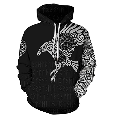 Boniyami Unisex adult Hoodies Eagle  3D Printed Fashion Pullover Swe...  来自 @amazon