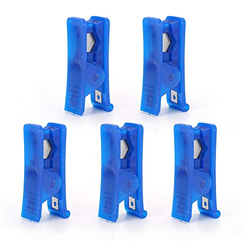 5Pcs PTFE Teflon tube cutter, for up to 6mm OD PU PE Tube, TFE Tube Cutter with Stainless Steel Blade and Spring Hand Tool
