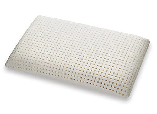 Marcapiuma Saponetta - Cuscino in Memory Foam, Fodera 100% Cotone, Guanciale Memory Ortopedico, Dispositivo Medico Detraibile 19% dalle tasse, Bianco, 42 × 72 × 12 cm, 1 pezzo