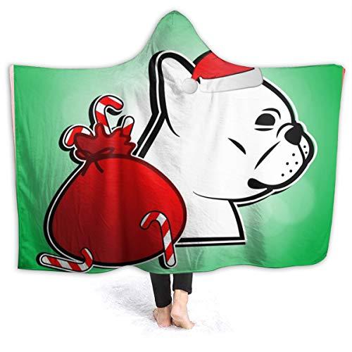 remmber me Nette französische Bulldogge im Weihnachtsfest 1031 80x60 Zoll Decke Superweiche flockige gemütliche warme flaumige Plüschdecke für Bett-Couch-Stuhl-Wohnzimmer-Fall-Winter-Frühling