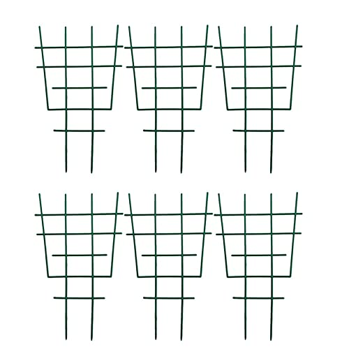 INNER PEACE DIY Garden Plant Support 2/4/6/8/12 Pack Plastic Plant Trellis Vine Climbing Lattice Combination Superimposed Potted Plant Growing Support for Mini Climbing Plant Pot Support Leaf Trellis