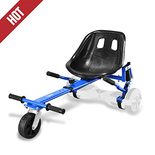Hishine Go Kart Conversion Kit for Hoverboards Safer for Kids All Ages Self Balancing Scooter, Hoverboard Not Included (Blue)