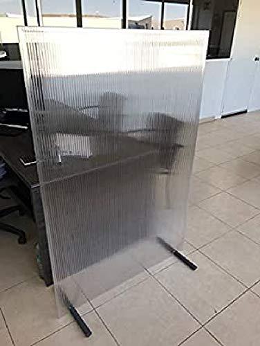 Mamparas de protección separadoras (Pack x 2 uds.) - 100x150cm - Policarbonato celular translúcido - Puestos de trabajo, mesas de restaurante, peluquerías, gimnasios