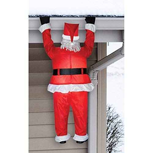Gemmy 83662 Airblown Santa Hanging from Roof Christmas Inflatable 6.5FT TALL