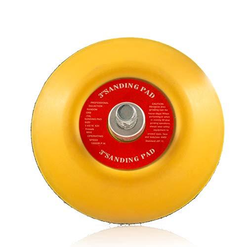 3 '(75 mm) gancho y bucle lija Pad, doble acción Orbital aleatorio lijado Pad 5/16-24 rosca