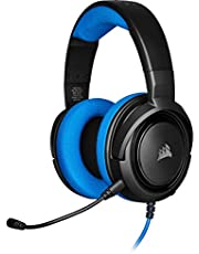 Corsair HS35 Stereo Gaming Headset (50 mm Nedymium luidsprekers, Afneembare unidirectionele microfoon, Vederlicht design, voor PC, XBOXOne, PS4, Nintendo Switch en mobiele apparaten) Zwart/Blauw