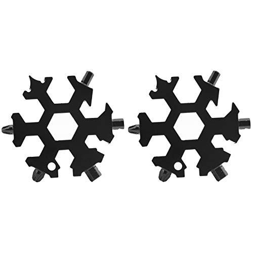 Destornillador de forma liviana duradero de 2 uds, herramienta multifuncional de llave de copo de nieve para trabajos manuales para reparar(black)