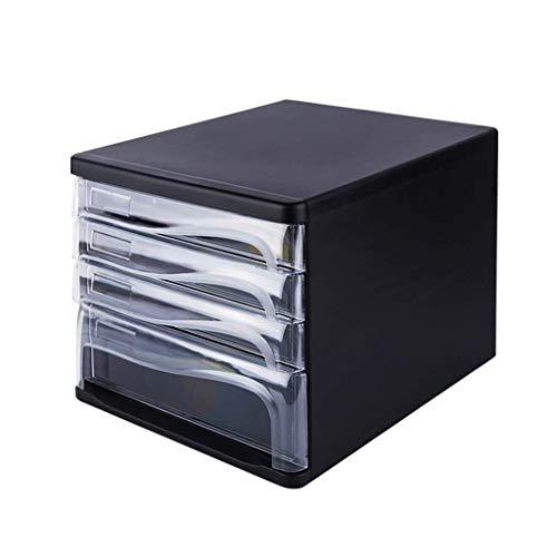 IREANJ Almacenamiento de escritorio de Clasificadores cajón, mesa de escritorio de oficina cajón del armario 5 capas Material de datos de Office Bastidores Periódico portátil ordenada Periódico Bastid