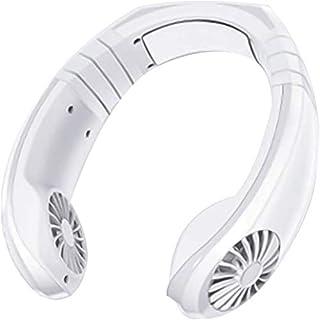 Colgando de aire portátil de cuello del ventilador del refrigerador de aire de mano portable libre Personal Fan-recargable mini USB cuello Ventilador, Zona usable del acondicionador de aire ,Blanco