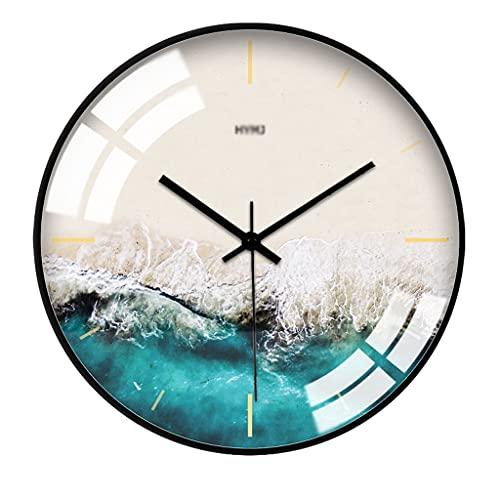 ZSP Relojes de Pared Reloj de Pared de Estilo nórdico Reloj de Pared de Reloj Moderno Minimalista Europeo silencioso Reloj...
