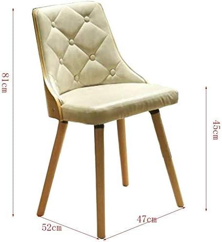 GSN Chaise de salle, cadre en bois, haute température Processus de peinture fauteuils (Color : Brown) White