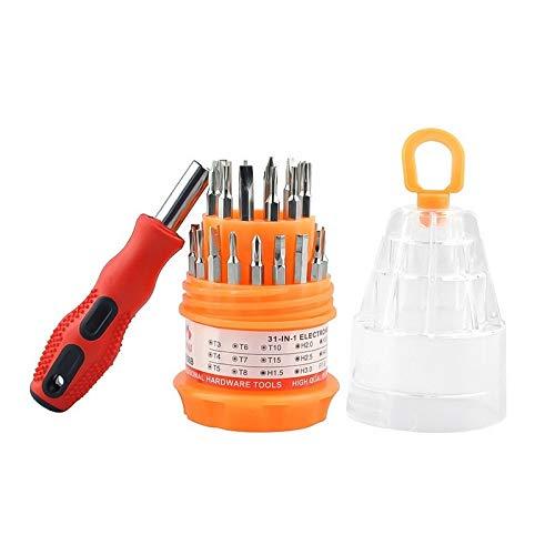 TASJS 30in1 Set de Destornillador magnético Portátil Torx Destornillador bits for Reloj de teléfono Celular Destornillador portátil Kit de reparación Herramienta de Mano (Color : B)