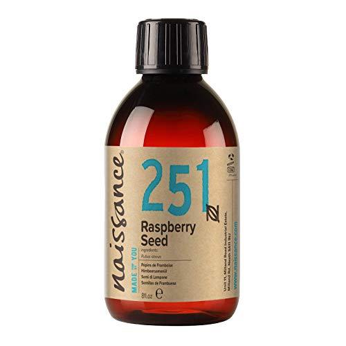 Naissance Aceite de Semillas de Frambuesa 100ml - 100% puro, prensado en frío, vegano y no OGM
