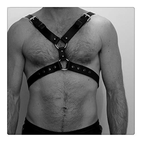 nice shop now Cinturón de arnés Para hombre de cuero ajustable Punk pecho medio hebilla anillos Gothic tirantes Steampunk hombro correas cinturón Traje para ocasiones especiales ⭐