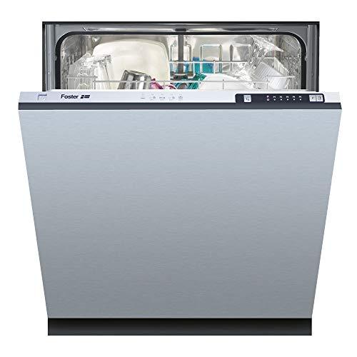 Foster 2950 000 Totalmente integrado 12cubiertos A+ lavavajilla - Lavavajillas (Totalmente integrado, Acero inoxidable, Botones, 12 cubiertos, 49 dB, Intensivo, Rápido)