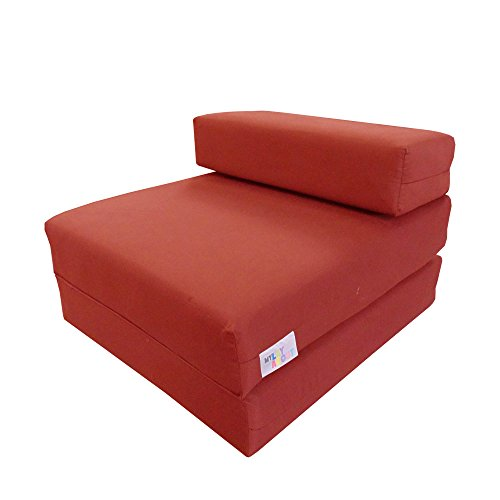 My Layabout Single Memory Foam Z Bed/Guest Bed/Fold Out Spare Bed Sofa/Chair/Futon/Mattress   Red