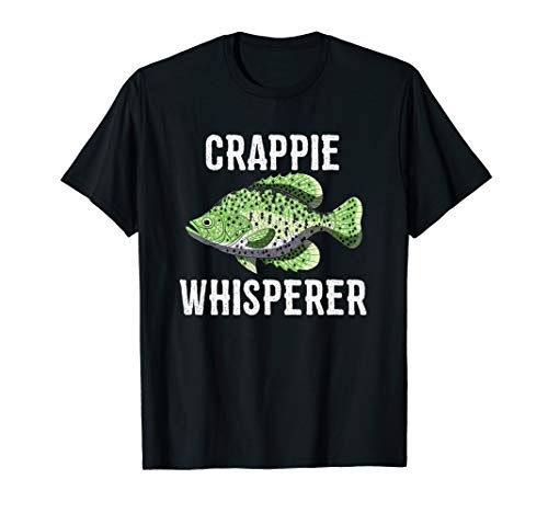 Mens Crappie Whisperer T Shirt Funny Panfish Crappies Quote Gift...