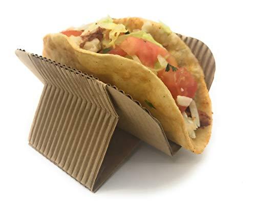 AURA eco-packaging Einweg-Taco Halter Ständer Rack Platten für Harte Oder Weiche Tacos Schalen, Schawarmas, Hot Dog, Waffle Sandwiches, Gyros,